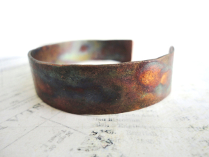 Women's recycled copper cuff bracelets
