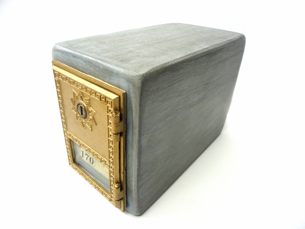 tnbc designs antique post office door keepsake box with key