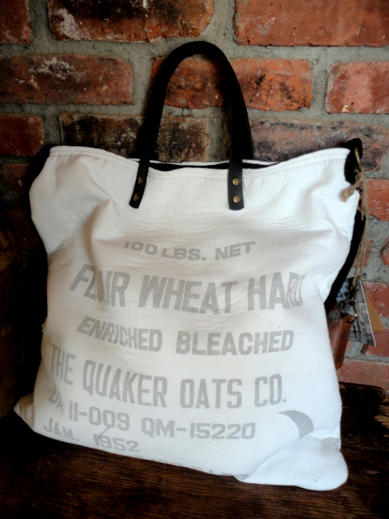 tnbc designs Vintage flour sack bag
